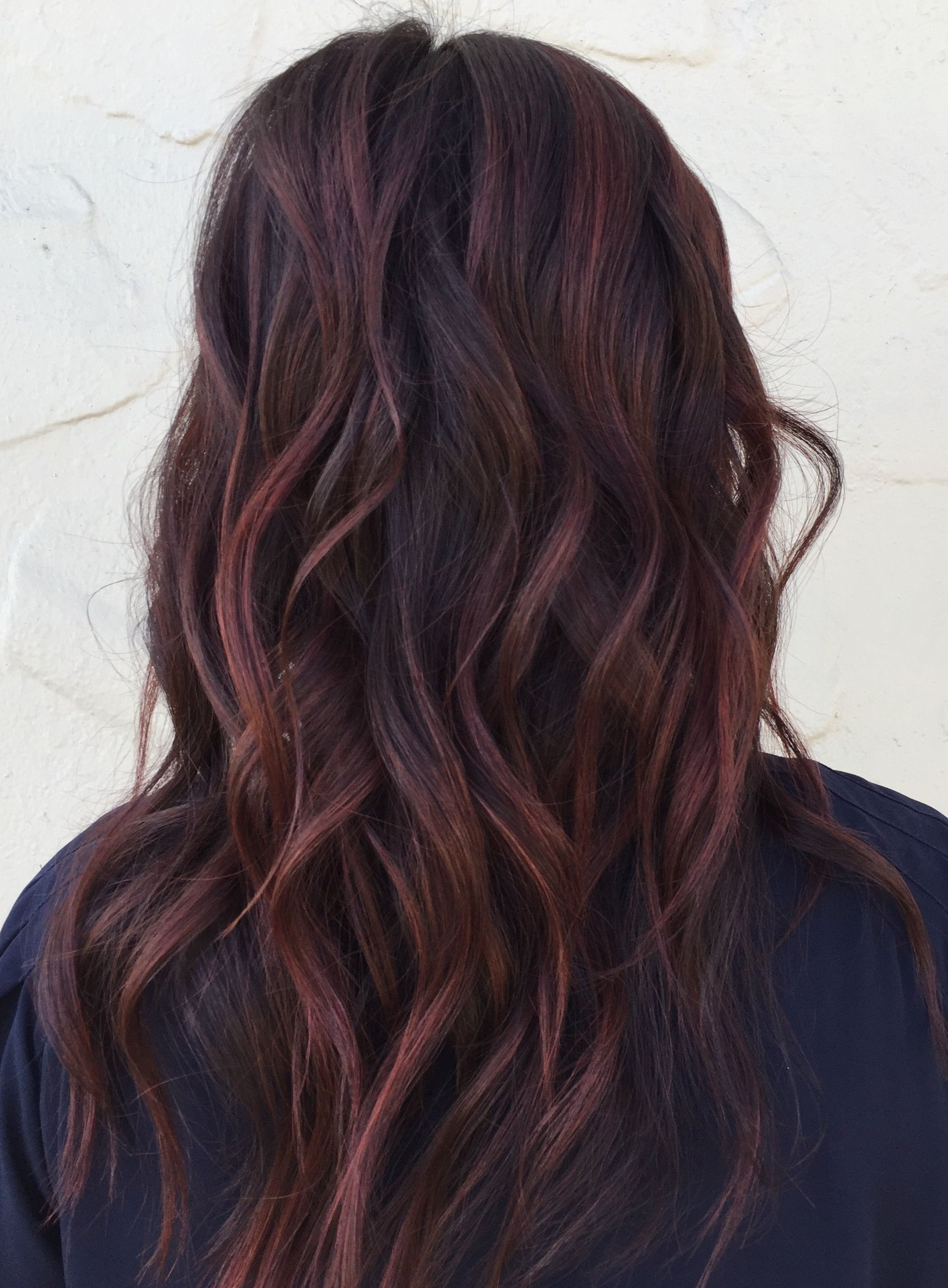 Winter Cool Tones Balayage Brunette Hair Color Red Tint Hair Hair Tint