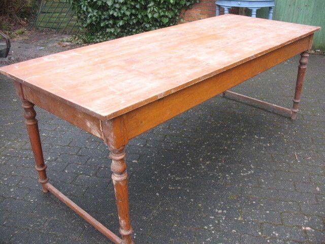 Gesindetisch Esstisch Kiefer Grunderzeit Jugendstil Um 1900 Original Zustand Esstisch Kiefer Esstisch Tisch