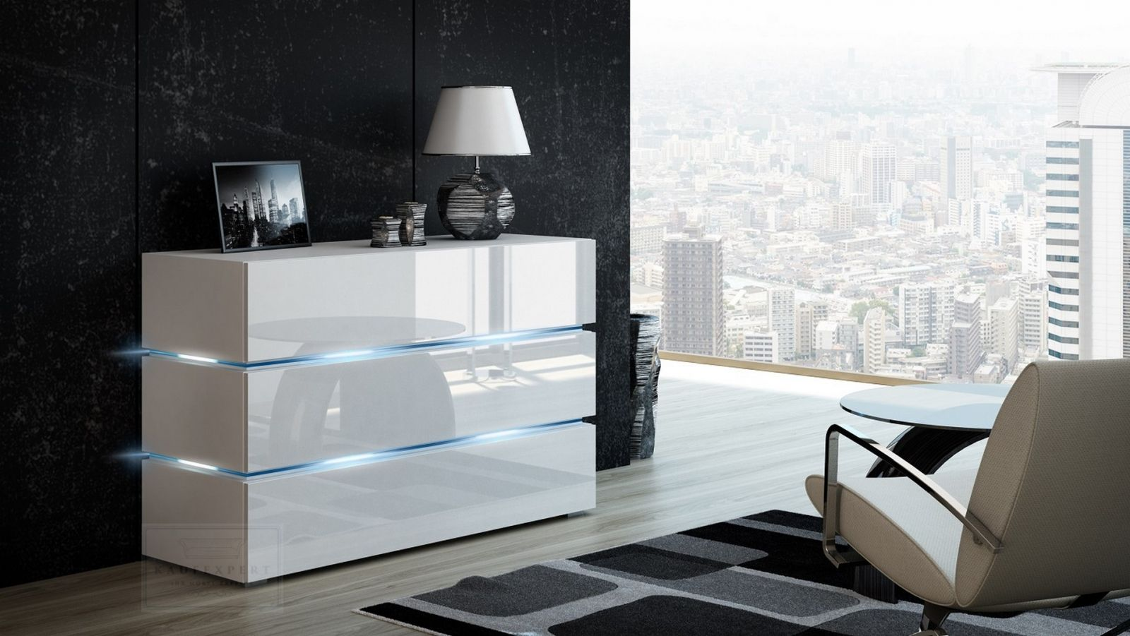 product info info=p492 kommode shine sideboard 120 cm weiss