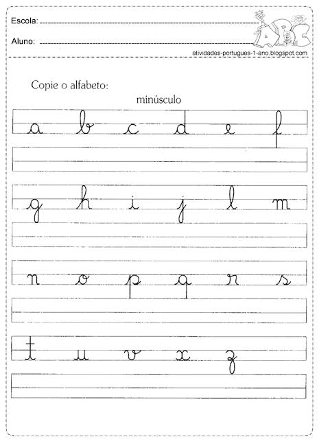 Atividades com letras cursivas | atividades | Pinterest
