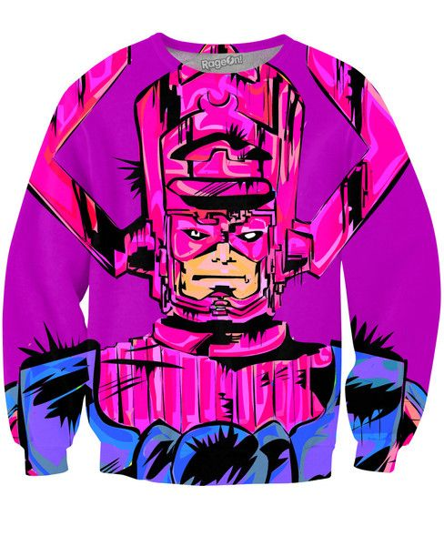 Check out this sick, all-over-print Galactus Sweatshirt by Technodrome1! This vibrant sweater featuresFantasticFour's very own 'Devourerof Worlds', Galactus!