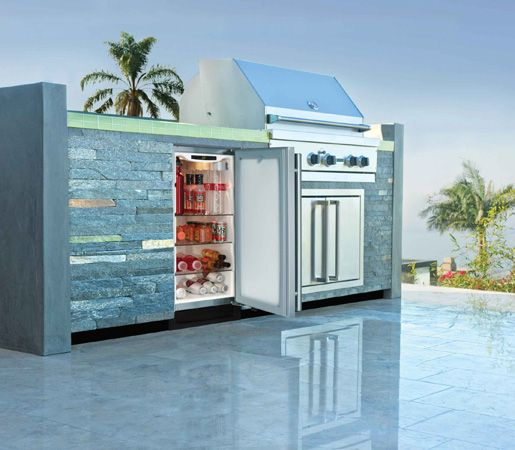 Delightful Outdoor Refrigerator And Grill