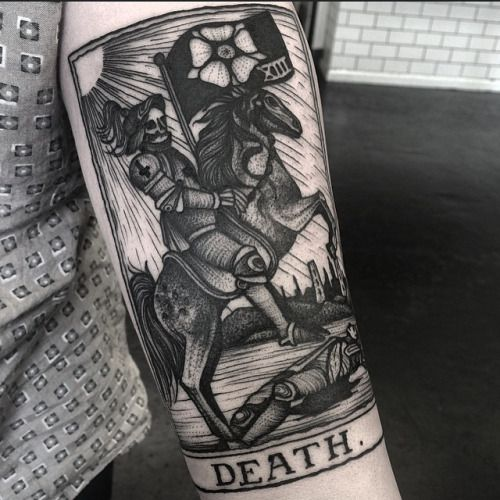 Kelly Violet 1337tattoos Knight Tattoo Tarot Tattoo Card Tattoo
