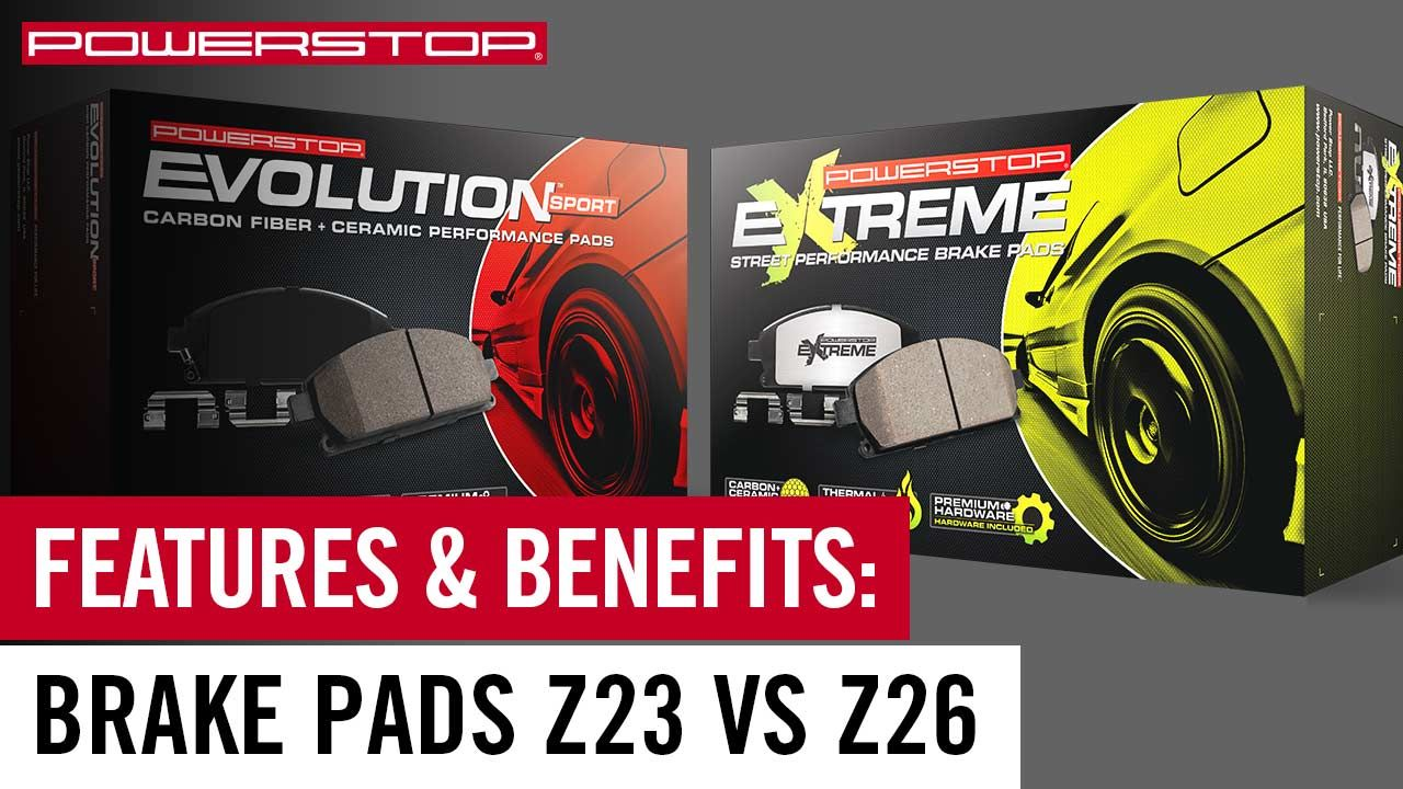 Z23 Vs Z26 Which Brake Pad Upgrade Is Right For You With Images Brake Pads Power Stop