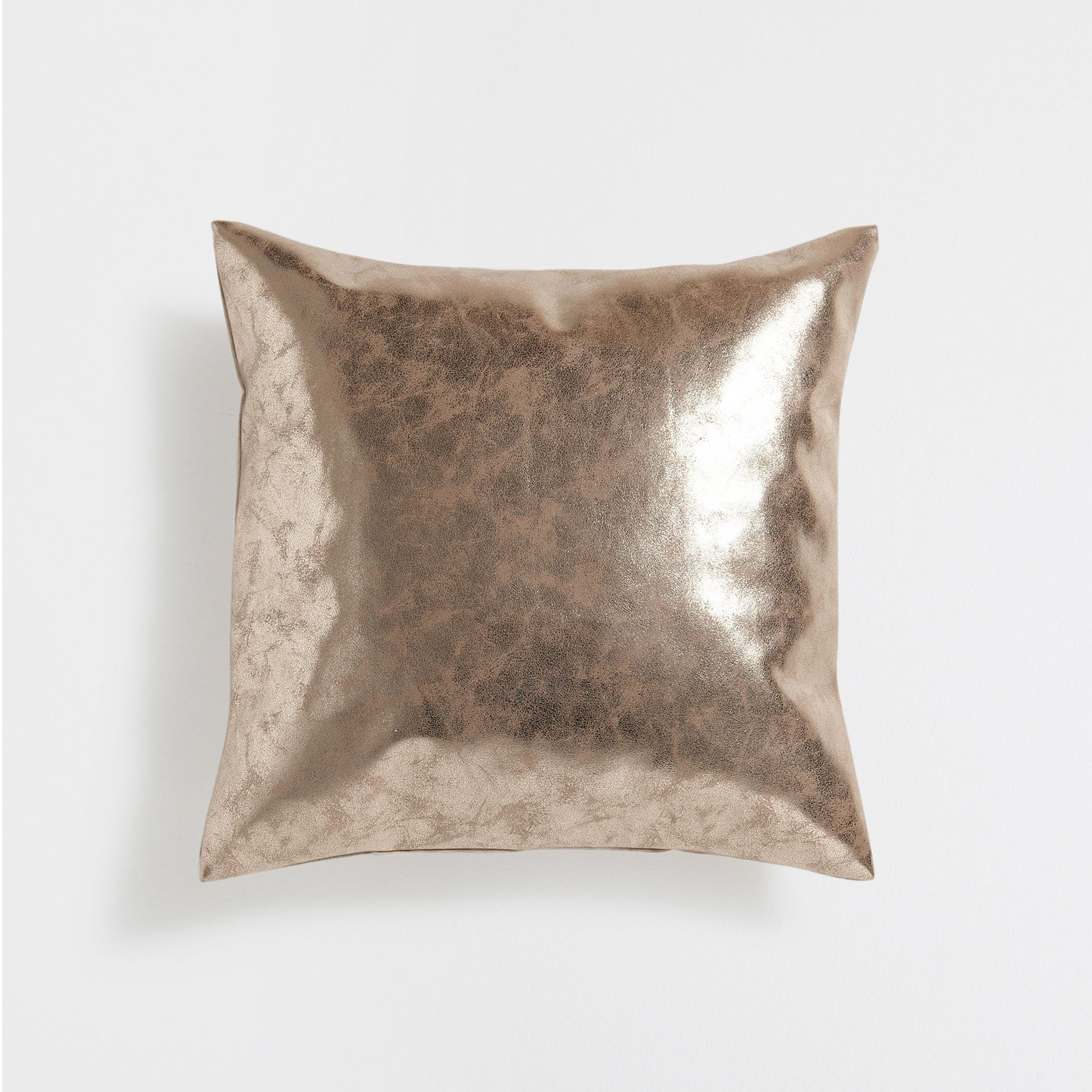 GOLD EFFECT CUSHION COVER