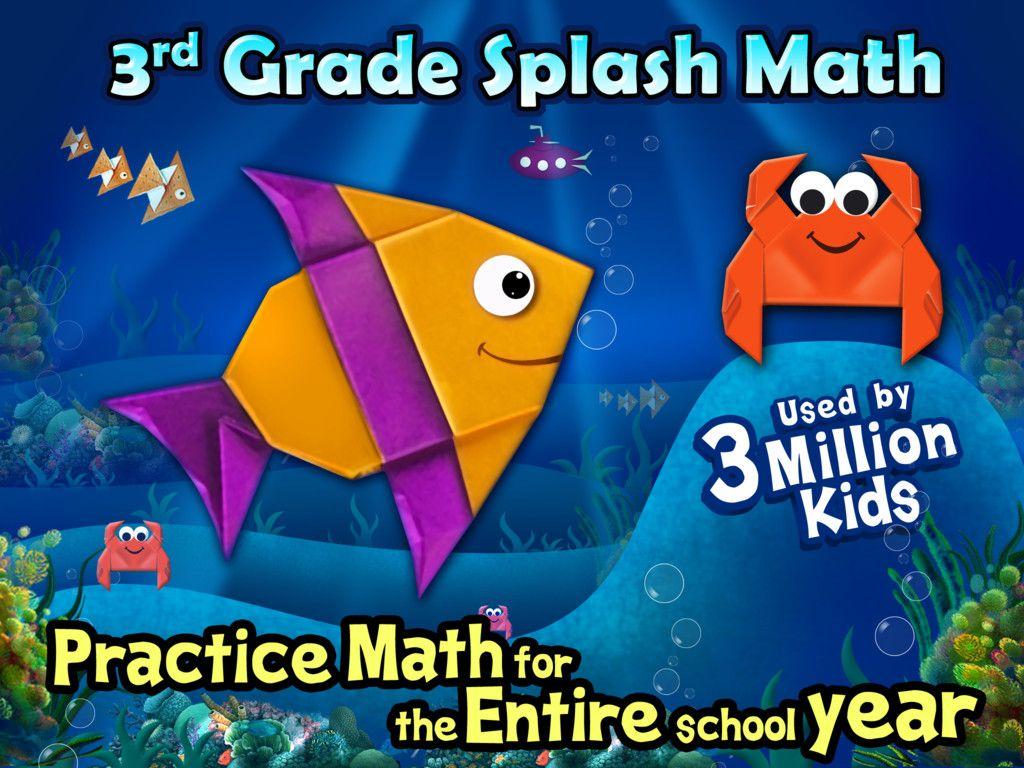 Third Grade Splash Math Common Core Games For Number Sense Elementary School Math For Kids Math Practice Games Math Apps [ 768 x 1024 Pixel ]