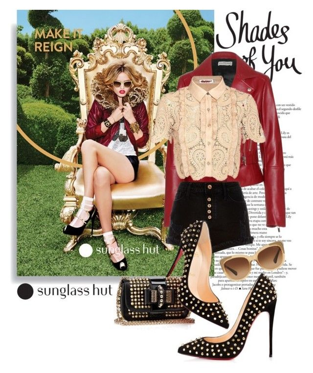 """""""Shades of You: Sunglass Hut Contest Entry"""" by aysebt ❤ liked on Polyvore featuring Jagger, Balenciaga, self-portrait, River Island, Coach and shadesofyou"""