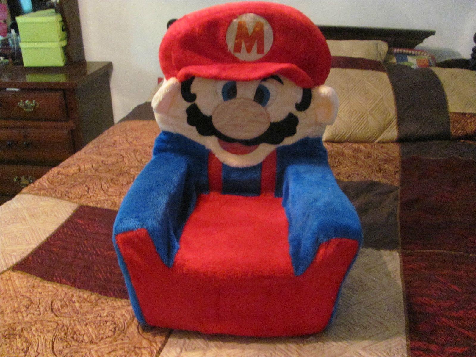 super mario plush pictures   Super Mario Bros Vintage Plush Chair - Video Game Auctions & super mario plush pictures   Super Mario Bros Vintage Plush Chair ...