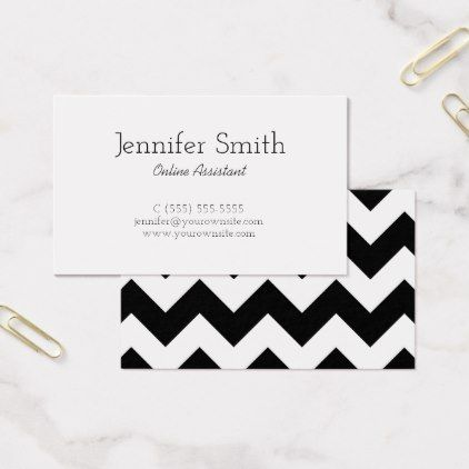 Black and White Chevron Pattern Business Card - pattern sample ...
