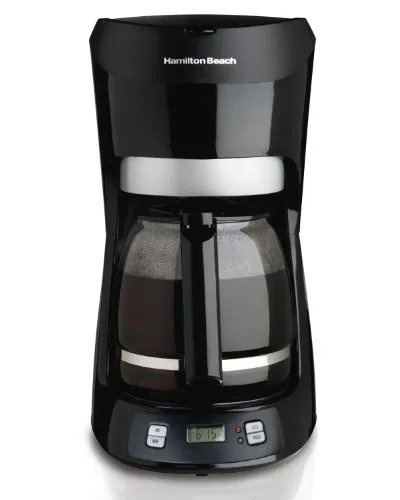 Hamilton Beach 12 Cup Coffee Maker With Digital Clock Programmable Clock Timer 2 Hour Auto Shutoff Auto Stop In 2020 Coffee Maker Digital Clocks Keurig Coffee Makers