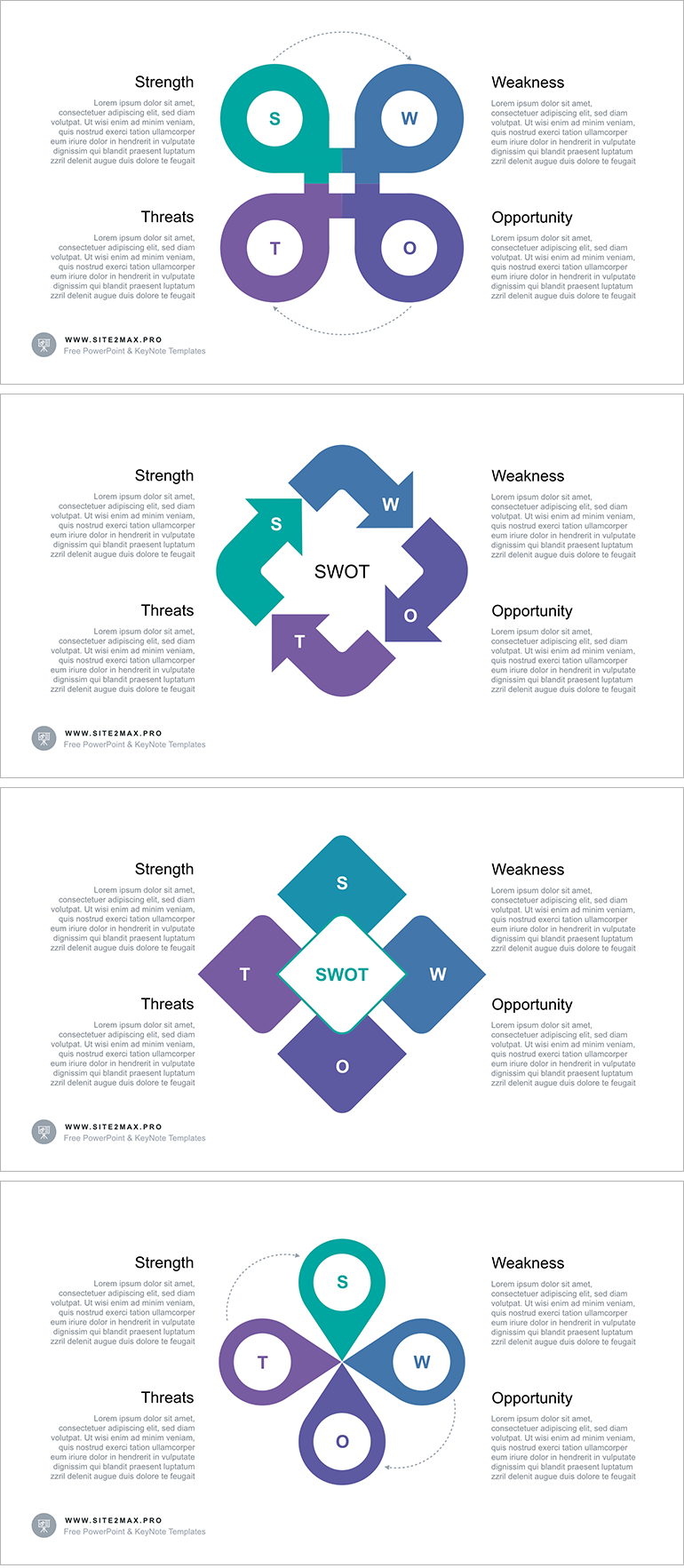 Professional template for a SWOT analysis Free Download