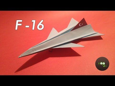 Kağıttan Uçak Yapımı F16 Türk Savaş Jeti 101 Metre Uçabiliyor