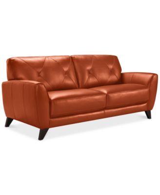 Myia Leather Sofa Created For Macy S
