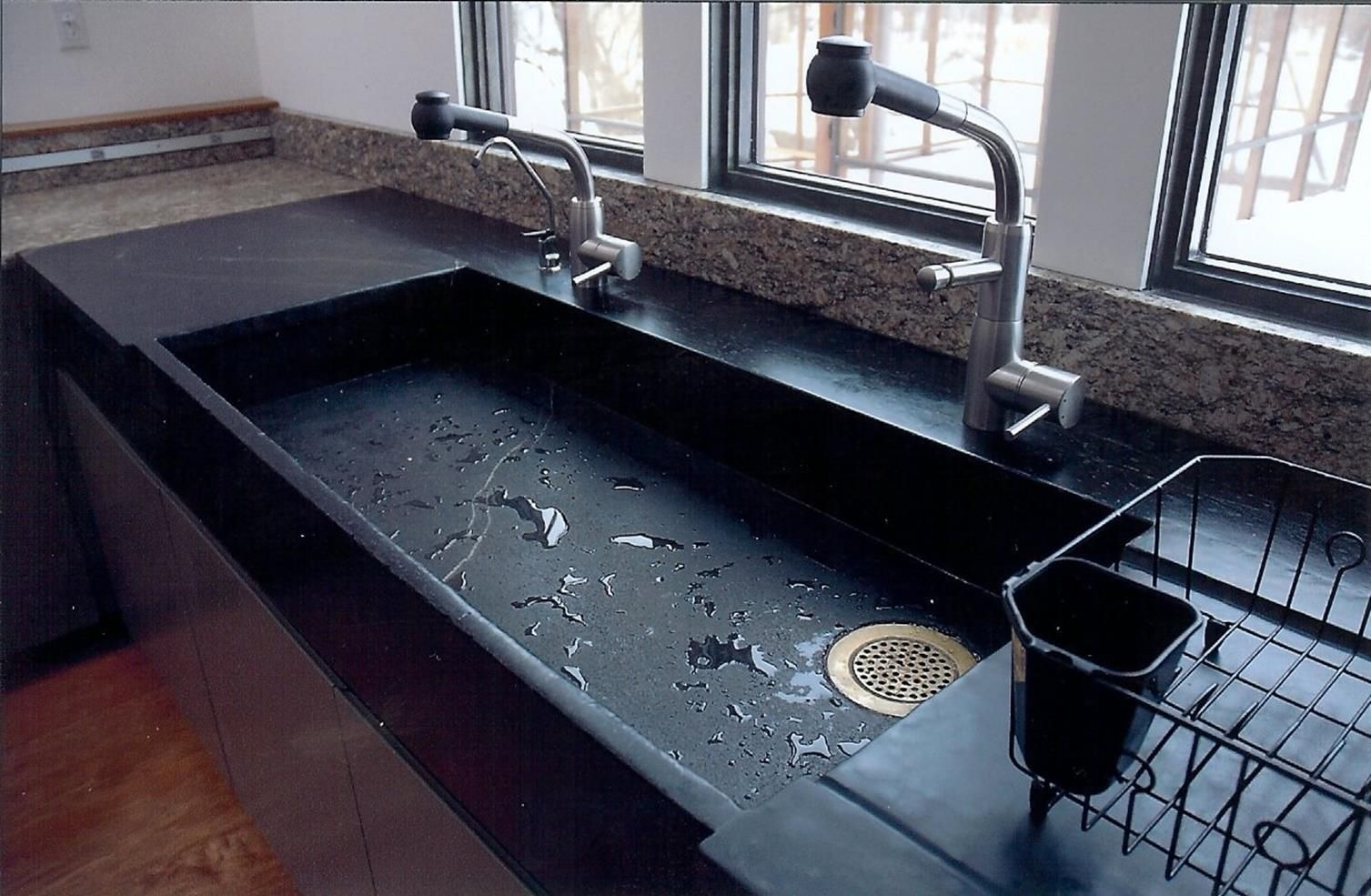 42 Inspiring Soapstone Farmhouse Sink Design Ideas Large