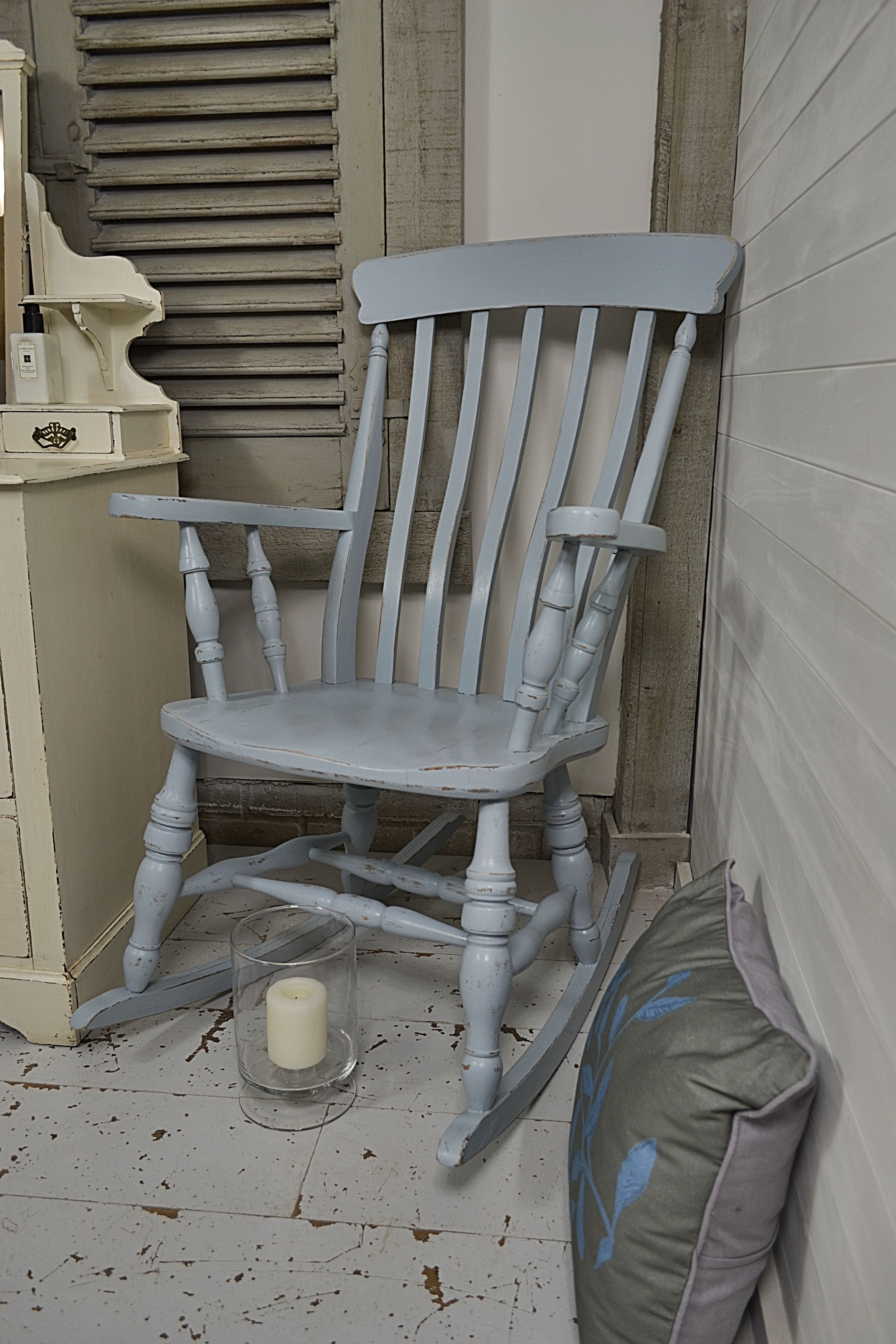 While Away A Few Hours With A Good Book On This Shabby Chic Rocking Chair,