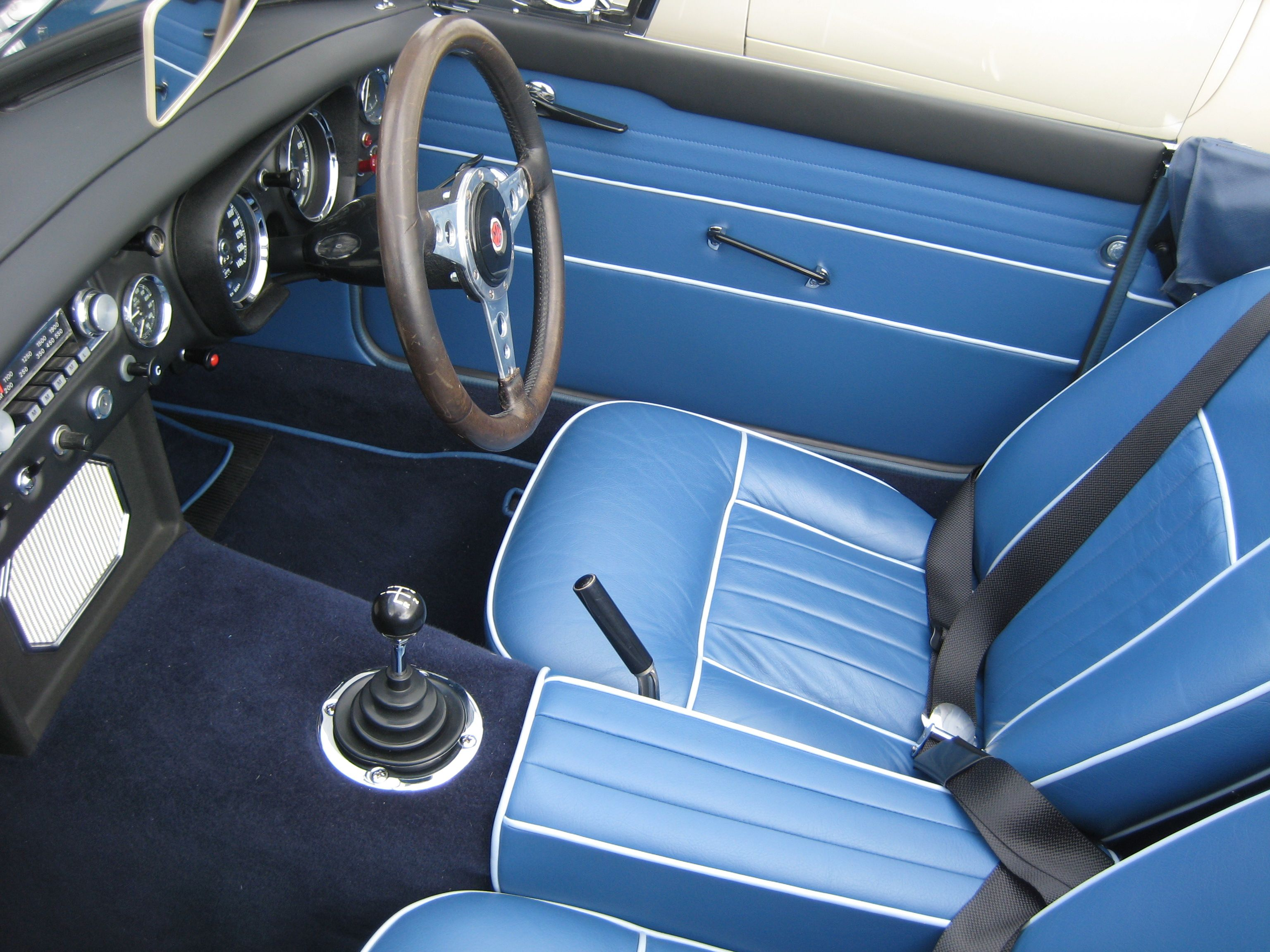 mgb interior in blue mgb pinterest interiors cars and british car. Black Bedroom Furniture Sets. Home Design Ideas