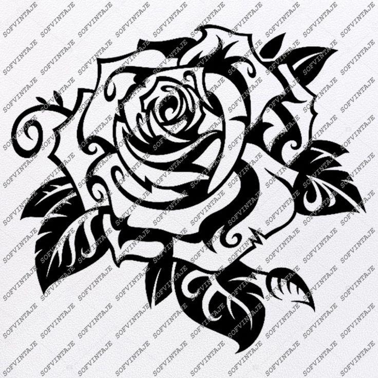 Tribal Tattoos Rose Borneo Tattoos In 2020 Tribal Tattoos Borneo Tattoo Black And Grey Tattoos