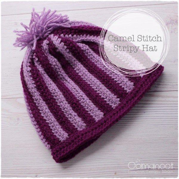 Free Pattern – Stripy Camel Stitch Hat | Free pattern, Stitch and ...