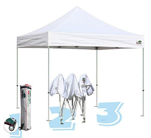 Commercial Grade Std 10x10 White Canopy Tent Pop Up Gazebo Canopy Shelter With Wheeled Bag Read More Reviews Of White Canopy Tent Canopy Shelter Canopy Tent