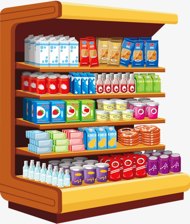 Grocery Store, Hand Painted, Shop PNG and Vector with ...