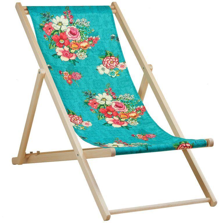 Transat Bois Chaise Longue Transat Toile Coton Prete A Poser Hanami Bleu Transat En Bois Transat Chaise Longue Exterieur