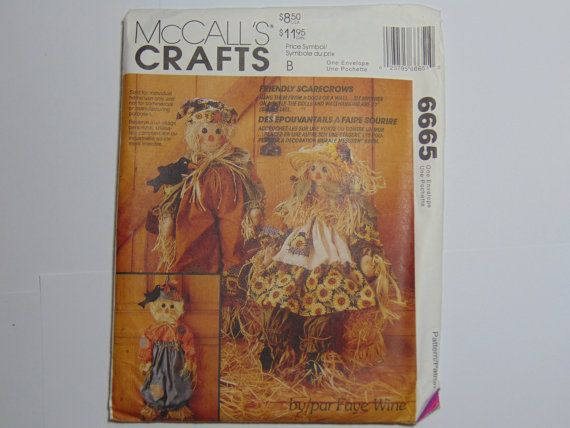 McCall's Craft Pattern 6665 Friendly by TrinasCraftPatterns