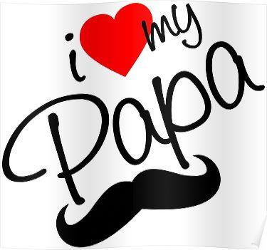I Love Papa Love You Papa Love Silhouette Love You Dad