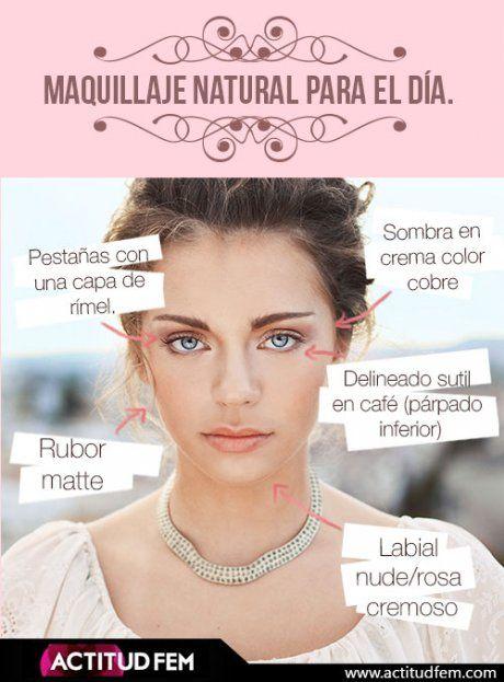 Maquillaje natural para el día Maquillaje, Natural y Belleza - maquillaje natural de dia