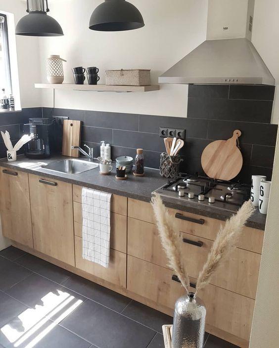 Mod les de cuisine en bois modernes ous avez peut tre - Refaire sa cuisine rustique en moderne ...
