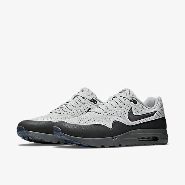 watch ec435 179fc 2018 Newest Nike Air Max 1 Ultra Moire 705297 002 Neutral Grey Cool Grey  Dark Grey Shoe
