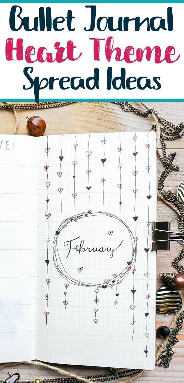 Bullet Journal Heart Theme Inspiration - Planning Mindfully