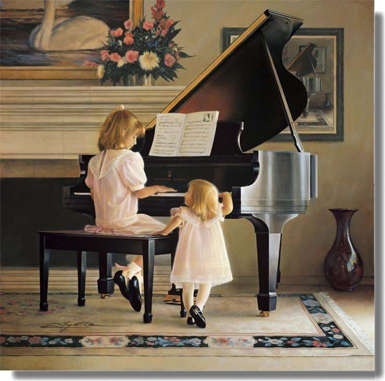 """""""Dress Rehearsal"""" by Greg Olsen"""