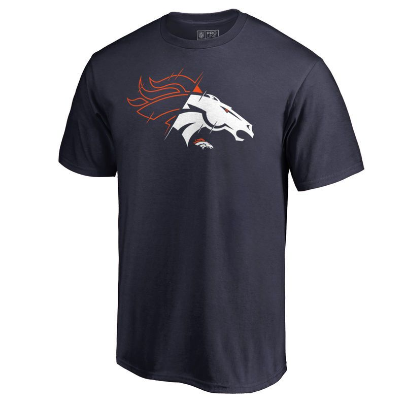 a14e58138 Denver Broncos NFL Pro Line by Fanatics Branded X-Ray Big   Tall T-Shirt -  Navy