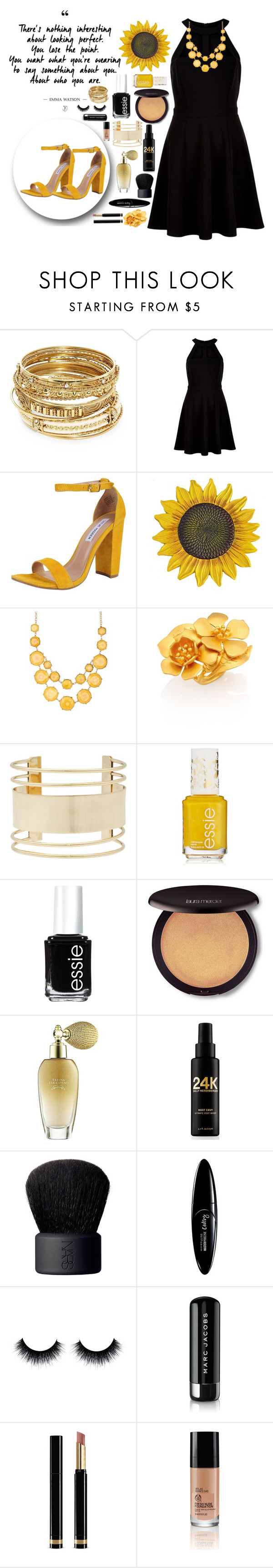 """""""Perfection is overrated"""" by weerala ❤ liked on Polyvore featuring ABS by Allen Schwartz, New Look, Steve Madden, Natasha, Valentino, Eloquii, Essie, Laura Mercier, Tarina Tarantino and Sally Hershberger"""