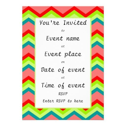 Colourful Zig Zag - All event invitation template Unique - divorce templates