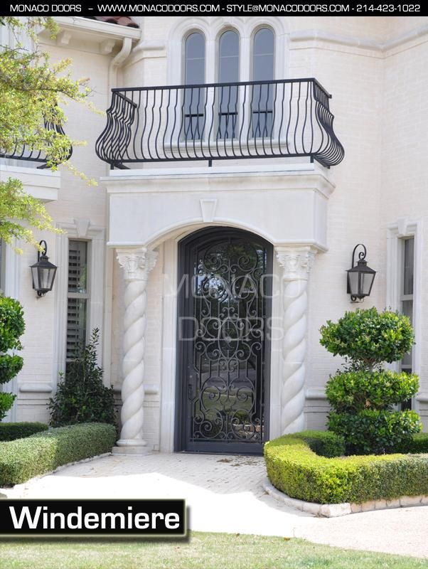 Braided Columns Arched Wrought Iron Door Entry Doors Foyers