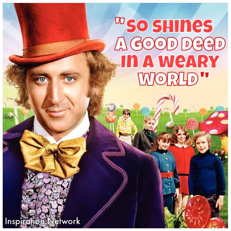 think positive willy wonka - 768×768