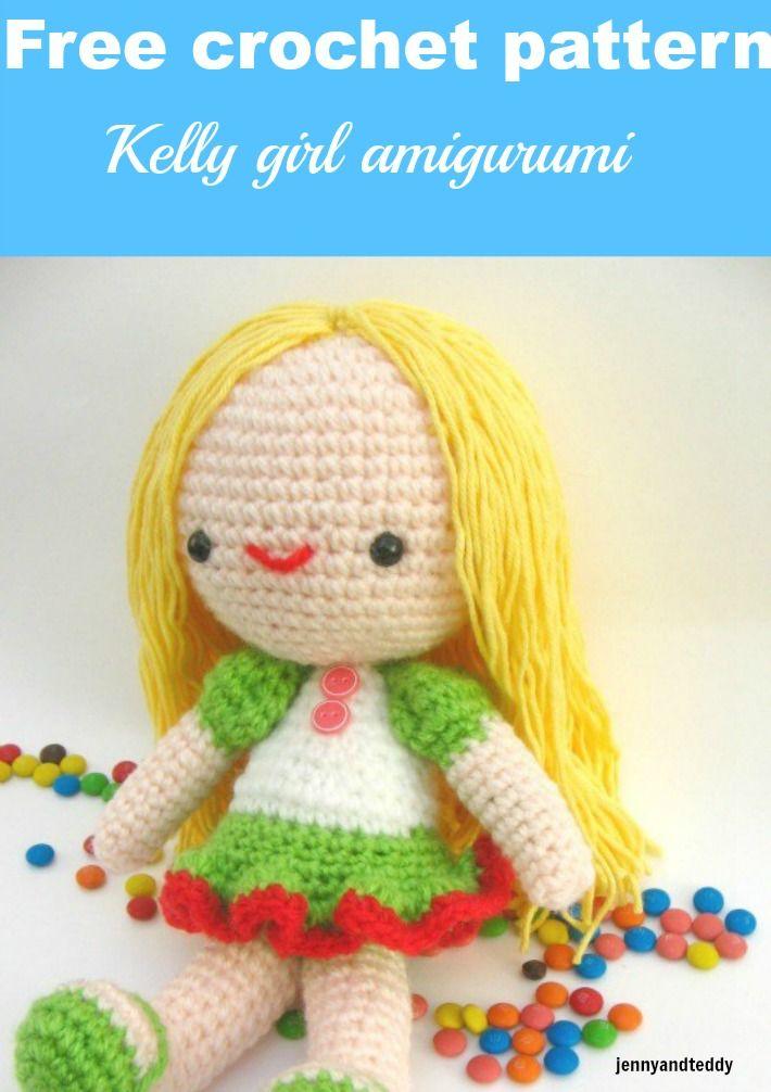 Kelly girl with frog hat free amigurumi pattern | Crochet.Amigurumi ...