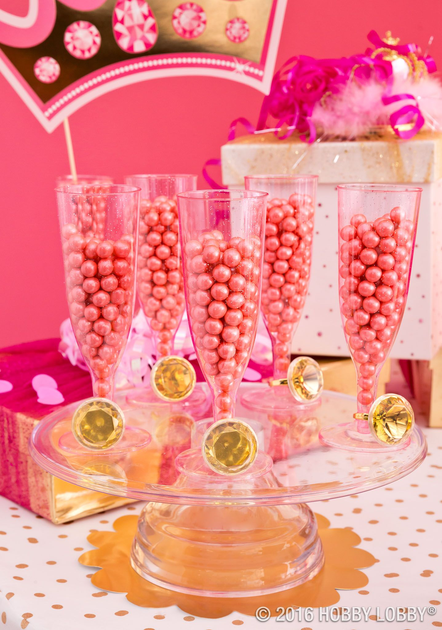 Pink Gold Party Supplies Party Baking Hobby Lobby Pink Gold Party Birthday Decorations Gold Party