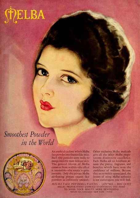 Melba Powder Ad May 1926 Vintage 1920s Makeup Beauty Antique - 1920s-makeup-ads