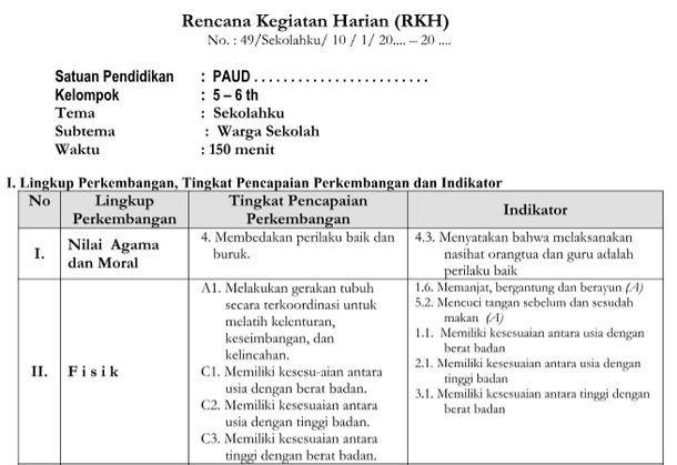 Rkh Tema Sekolahku Kurikulum 2013 Revisi Tk B Kurikulum Sekolah Pendidikan