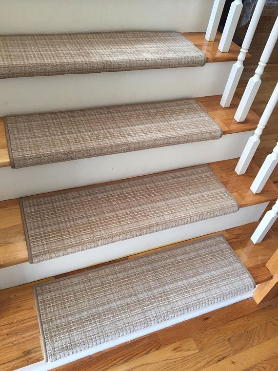 Best Plaid Weave True Bullnose™ Carpet Stair Tread Beaulieu 400 x 300