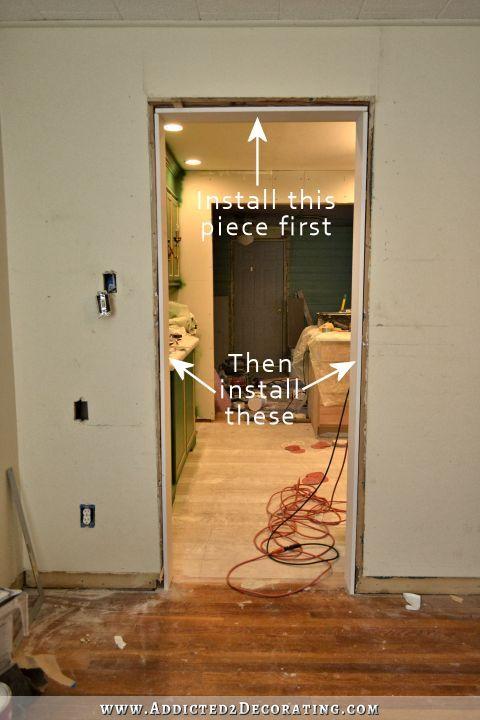 Installing 11 Foot Door Jambs Casings By Myself Plus My Thoughts On Door Trim Color Addicted 2 Decorating Diy Door Home Design Diy Door Trims