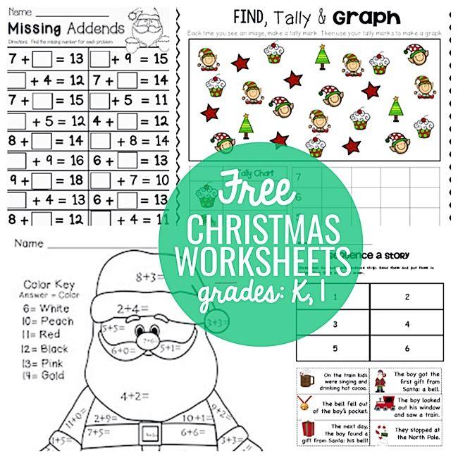 23 Festive Christmas Worksheets for K & 1st | Gingerbread man ...