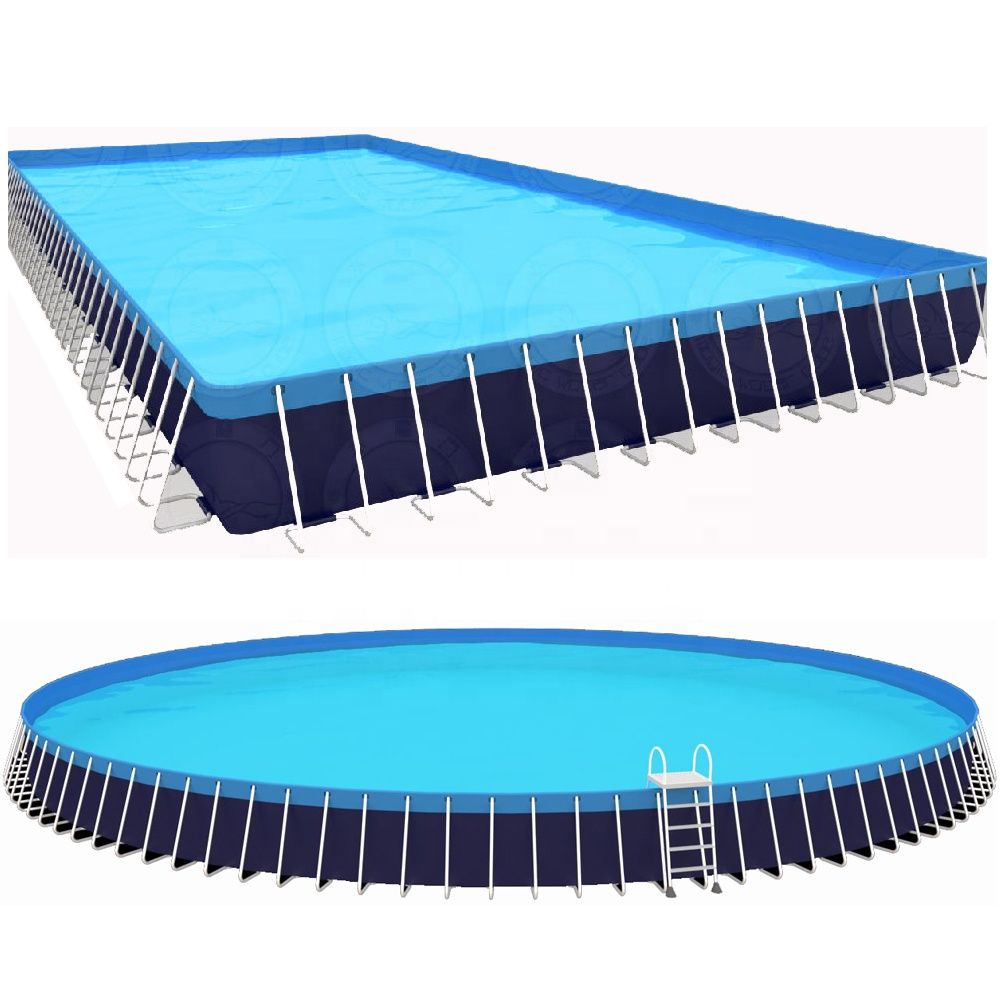 Large Outdoor 25m 15m 1 5m Rectangular Plastic Pvc Metal Frame Steel Wall Above Ground Swimming Pool For Sale Https M Outdoor Water Games Outdoor Metal Pool