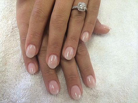 Short Almond Shaped Natural Looking Acrylic Nails Natural Acrylic Nails Rounded Acrylic Nails