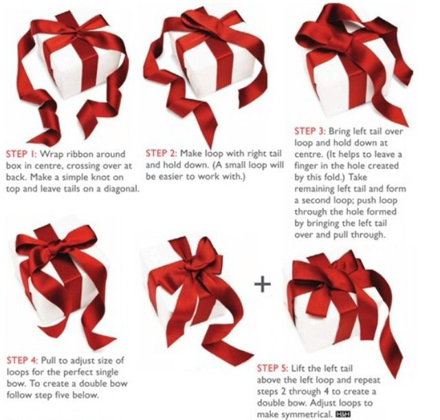 How To Tie Ribbons On Gifts Including The Classic Double Bow Gift Wrapping Techniques How To Tie Ribbon Gift Wrapping