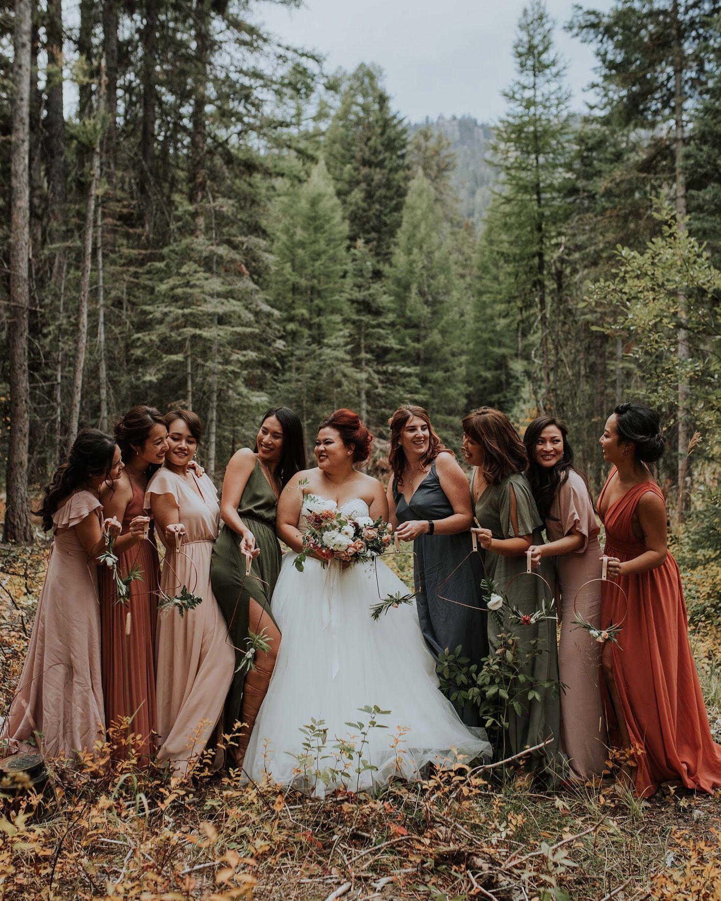 Idaho Boho Fall Wedding Emily Aitken Events Fall Bridesmaid Dresses Wedding Bridesmaid Dresses Fall Bridesmaids
