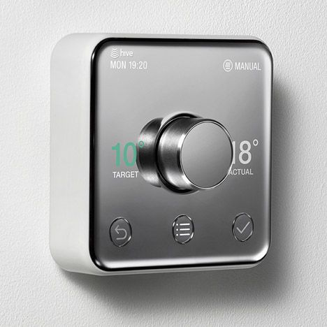 Yves Behar S Thermostat For British Gas Aimed At Everyone From Your Grandma To Your Auntie Http Decor10blog C Design Smart Thermostats Heating Thermostat
