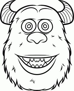 Sully Outline Drawings Canvas Drawing Monsters Ink